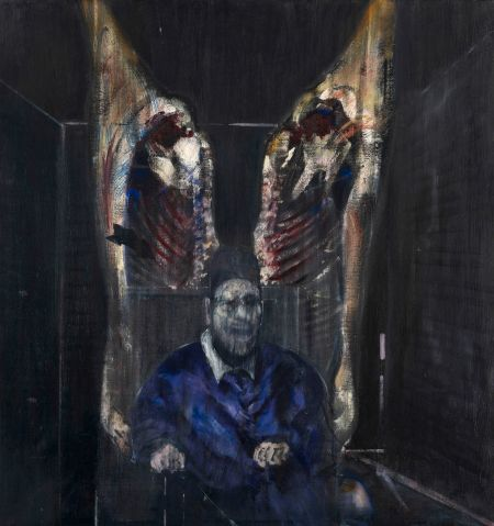 01-Francis-Bacon-.-Figure-with-meat-.-1954